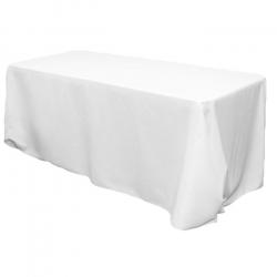 90x156 Rect. White Linen Linens