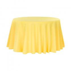 108 Round Lemon Linen Linens