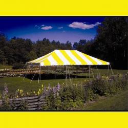 Tent - 20x40 Yellow/White Low Peak