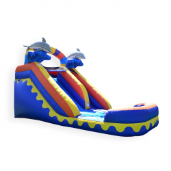 14ft Dolphin Water Slide $215