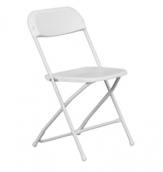 White Folding Chair  $1