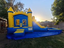Blue and Yellow Waterslide Combo