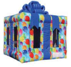 Gift Box Bouncer with Balloons $135