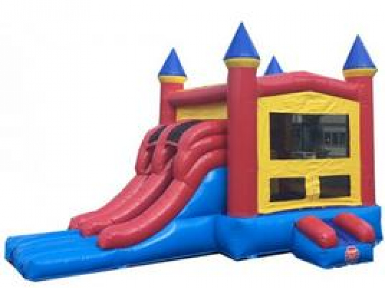 RED & YELLOW CASTLE WITH SLIDE