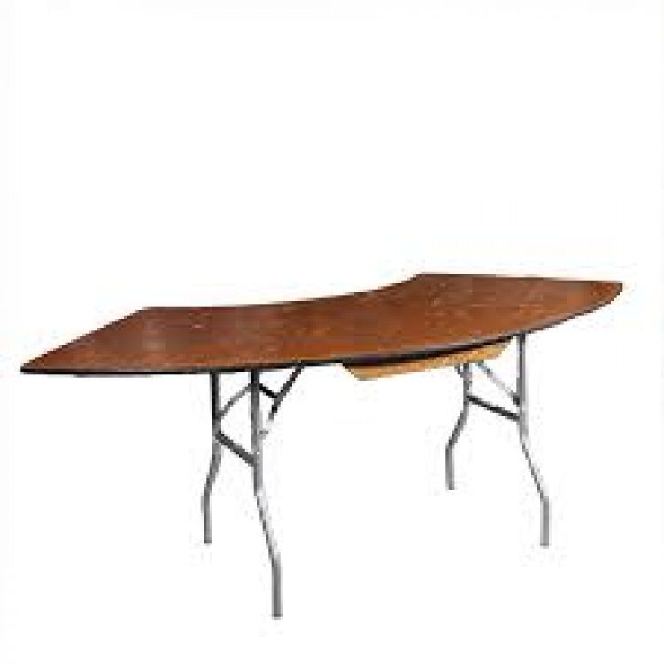 Table Serpentine Wooden 3x8 The Rental Party