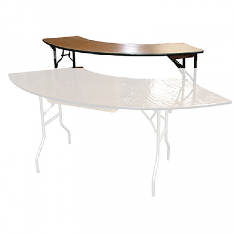 Table Serpentine Bar Top Inner Wooden 3x8 The Rental Party