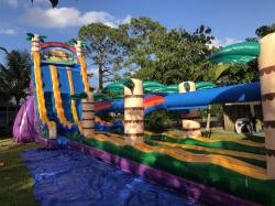 TIKI PLUNGE water slide w/pool