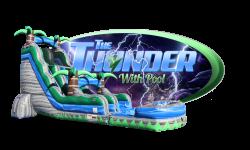 THUNDER water slide w/pool