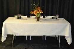 Lap Length Linens - 6 Rectangular Table