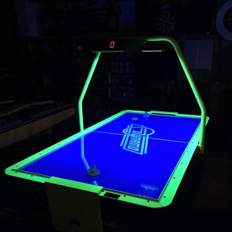 Blacklight Air Hockey Table