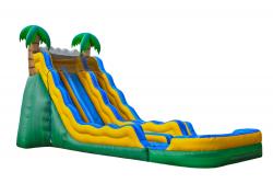 Mega 20 Ft Dual Lane Tropical Water Slide