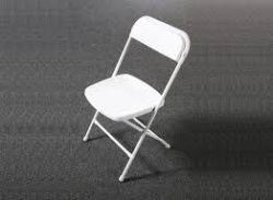 Chair-Folding White ($2.00 off with Bounce/Slide Rental)