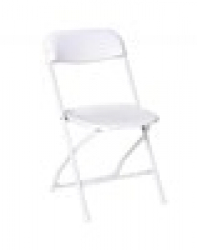 Chair-Folding White ($2.00 off when also renting an infl