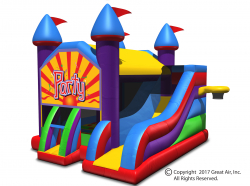 Party Theme-5-in-1 Large Castle Combo