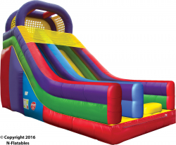 18 Foot Single Lane Slide