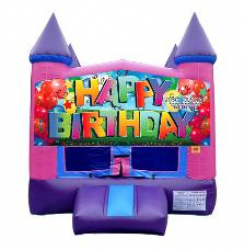 Happy Birthday Banner Purple Modular w/hoop