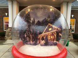 Human Snow Globe