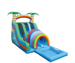 18' Double Funnel Tunnel with Pool