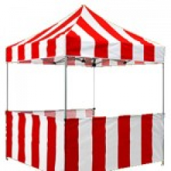 8x8 Red and white tent w/Skirt