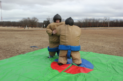 Sumo Wrestling - 2 Suits With Mat