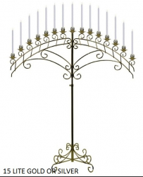 Arch Candelabrum 15-Candle