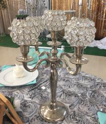 Candelabrum Silver w/sequins