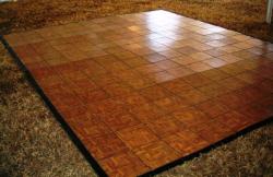 12'x16' Dance Floor, Wood, Outdoor