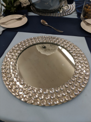 Mirror Finish w/Sequins Charger Plate