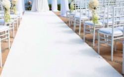 White Carpet Runner Walkway 4'x50'