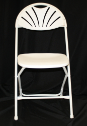 White Non-padded chair