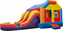 Fun House with Water Slide