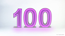 100th Neon Light Up Numbers