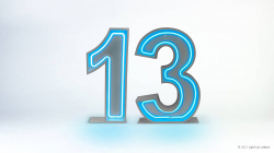 13th Neon Light Up Numbers