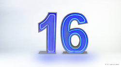 16th Neon Light Up Numbers