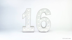 16th Light Up Numbers
