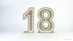18th Neon Light Up Numbers