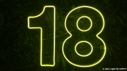 18th Neon Sign