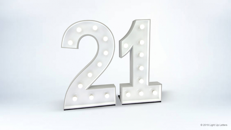 21st Light Up Numbers