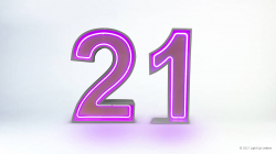 21st Neon Light Up Numbers