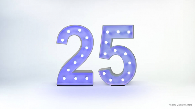 25th Light Up Numbers