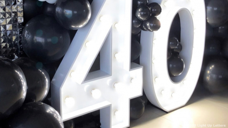 40th Light Up Numbers