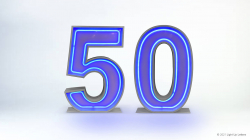 50th Neon Light Up Numbers