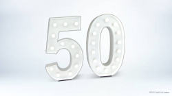 50th Light Up Numbers