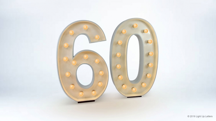 60th Light Up Numbers