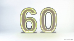 60th Neon Light Up Numbers