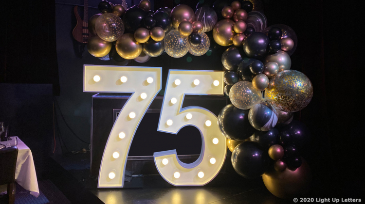 75th Light Up Numbers