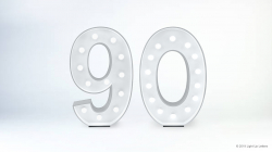 90th Light Up Numbers