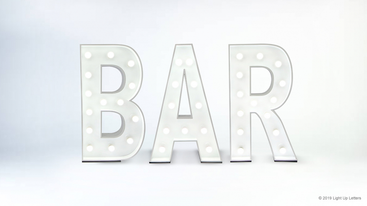 Bar Light Up Letters