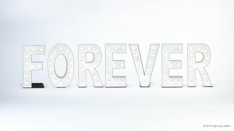 Forever Light Up Letters