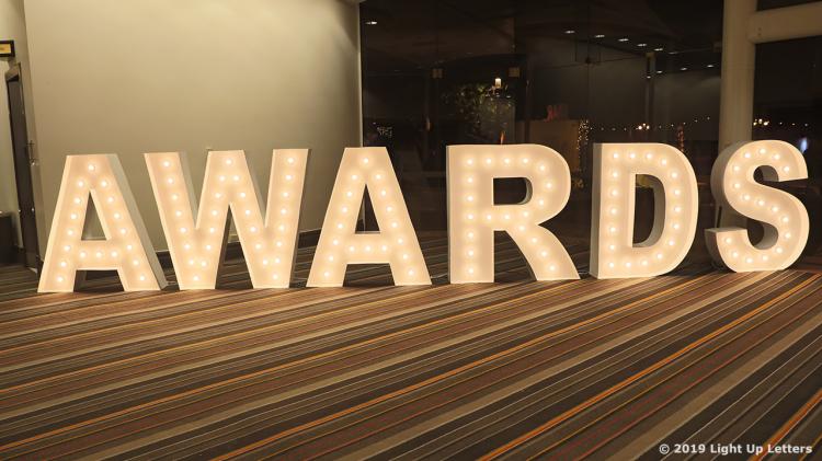 AWARDS Light Up Letters